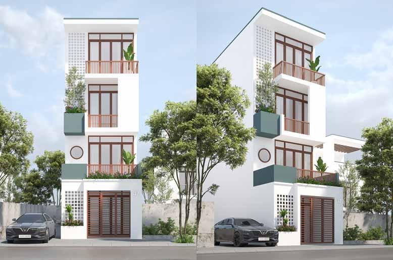 """Mẫu nhà hiện đại 4 tầng đẹp đến phát """"thèm""""tại Đồng Nai"""