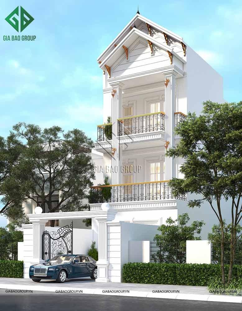 Nhà mái thái 3 tầng tân cổ điển