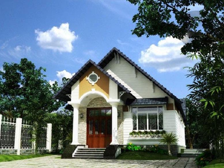 Nhà mái Thái 1 tầng 4x20m