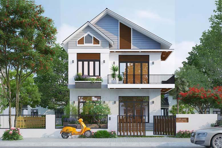 Kiến trúc nhà mái Thái khỏe khoắn, vững trãi