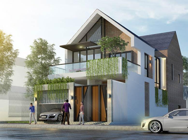 Nhà mái Thái hiện đại