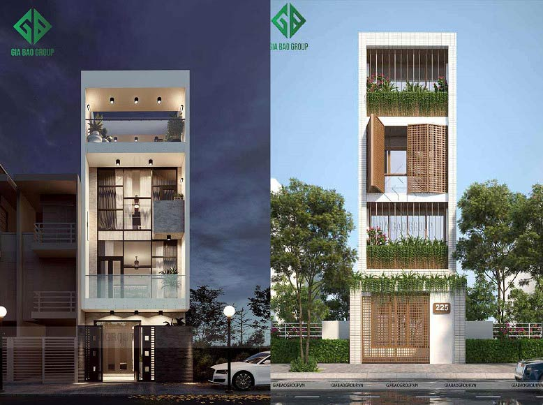 7 mẫu nhà phố 4 tầng đẹp sang trọng, xuất sắc nhất năm 2020