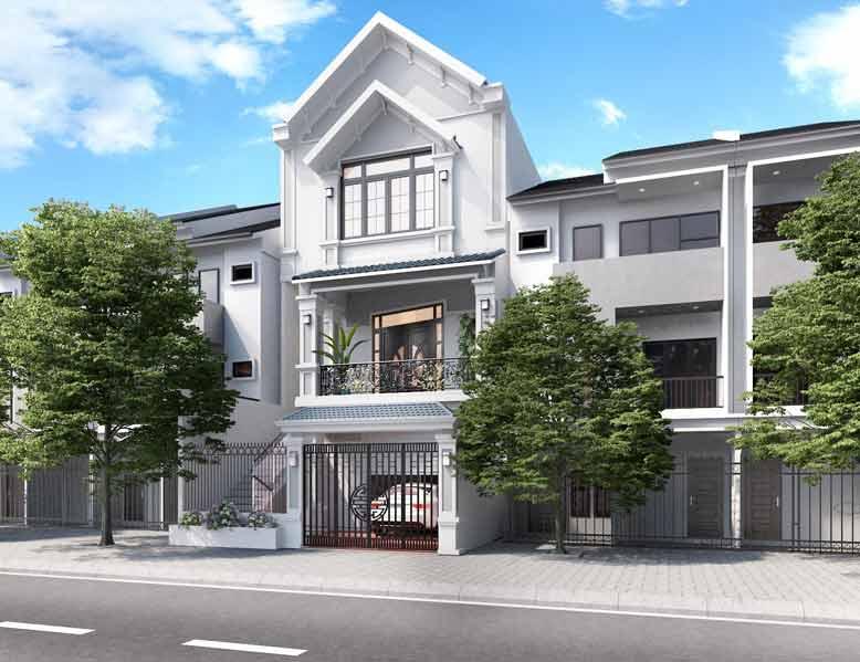 Thiết kế nhà phố mái ngói thanh thoát