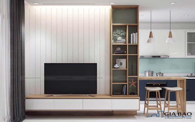 Thi công nội thất chung cư theo phong cách tối giản thời thượng.