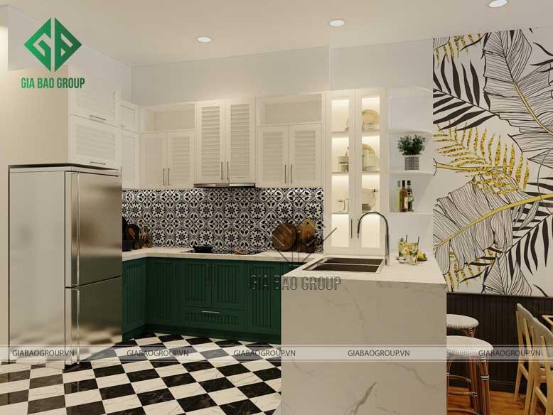 Nội thất bếp đẹp chú trọng đến công năng sử dụng