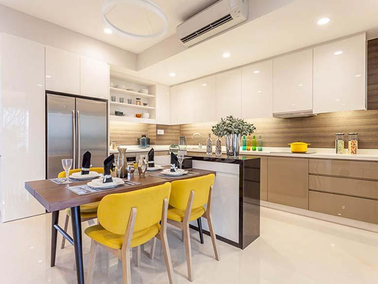 Thiết kế nội thất bếp đẹp hiện đại, trẻ trung