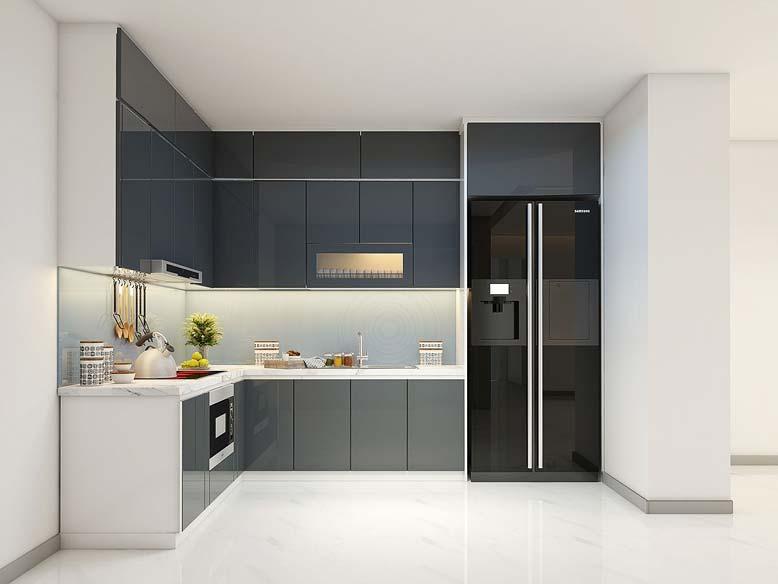 Gam màu trung tính thường được sử dụng nhiều trong phòng bếp phong cách hiện đại