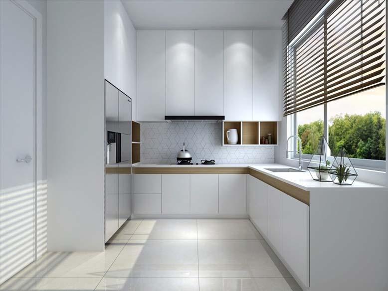 Nội thất bếp đẹp với thiết kế tối giản tinh tế