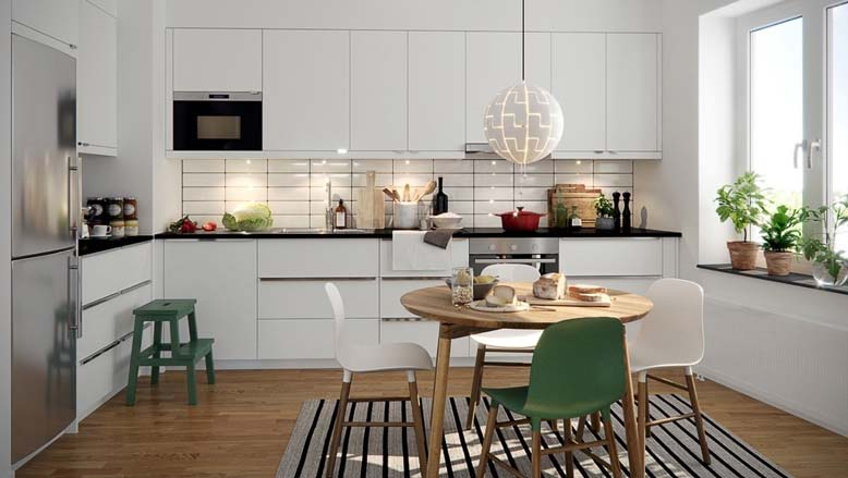 Nội thất bếp đẹp phá cách với gam màu ấn tượng