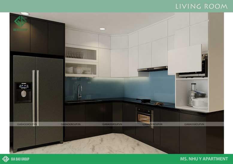 Mẫu nội thất bếp đẹp do kiến trúc sư Gia Bảo Group thiết kế