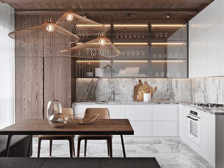 Nội thất bếp đẹp, đơn giản nhưng mang đậm cá tính gia chủNội thất bếp đẹp, đơn giản nhưng mang đậm cá tính gia chủ