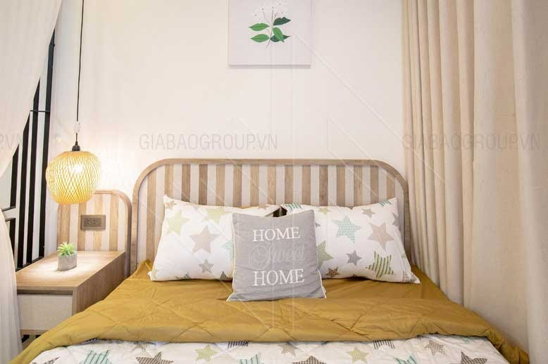 Phòng ngủ đơn giản, nhẹ nhàng, màu sắc nhã nhặn