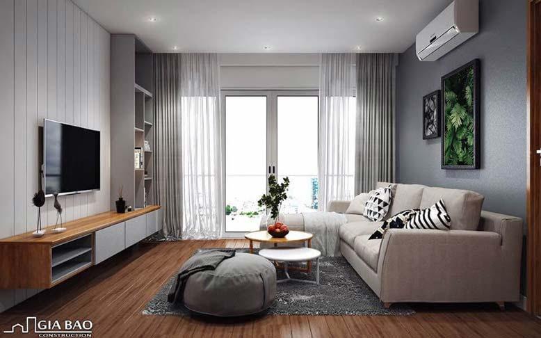 Nội thất căn hộ chung cư vớiphòng khách thể hiện cá tính gia chủ