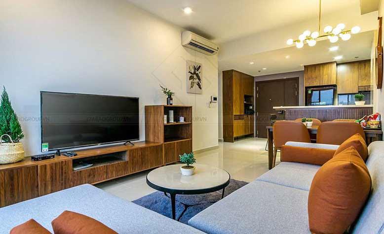 Nội thất căn hộ chung cư cho phòng ngủ nhỏ với đầy đủ tiện nghi