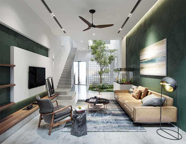 Mẫu nội thất nhà ống đẹp mang phong cách hiện đại