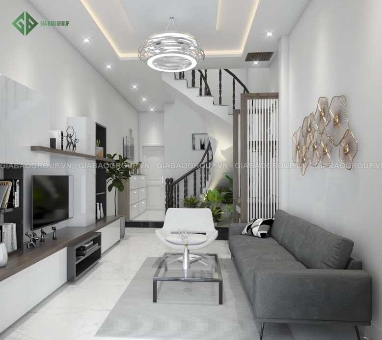 Nội thất phòng khách nhà ống phong cách hiện đại