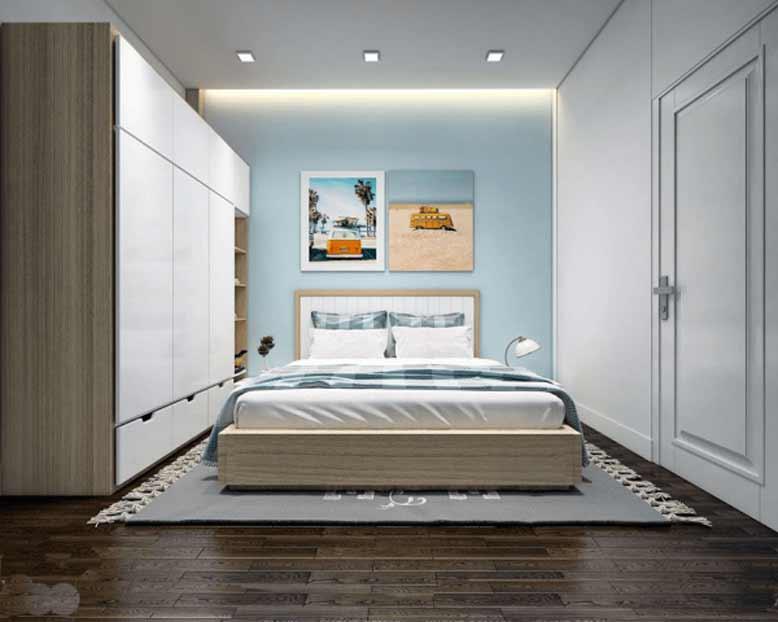 Nội thất phòng ngủ nhà ống đẹp cần đơn giản trong chi tiết