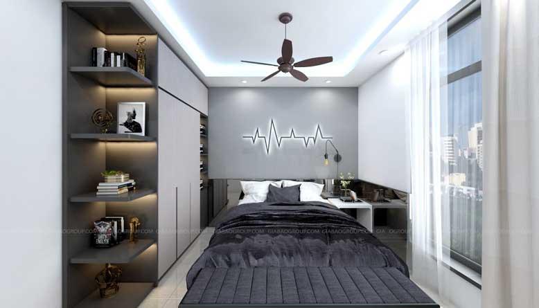 Phòng ngủ nhỏ hẹp nhưng đầy đủ công năng