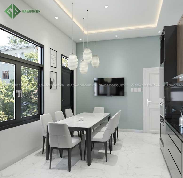 Nội thất nhà bếp hiện đại, sáng sủa cho gia đình đông thành viên