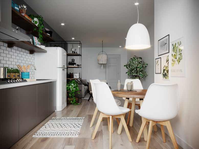 Ánh sáng tự nhiên là yếu tố không thể thiếu cho nội thất nhà ống đẹp phong cách Bắc Âu