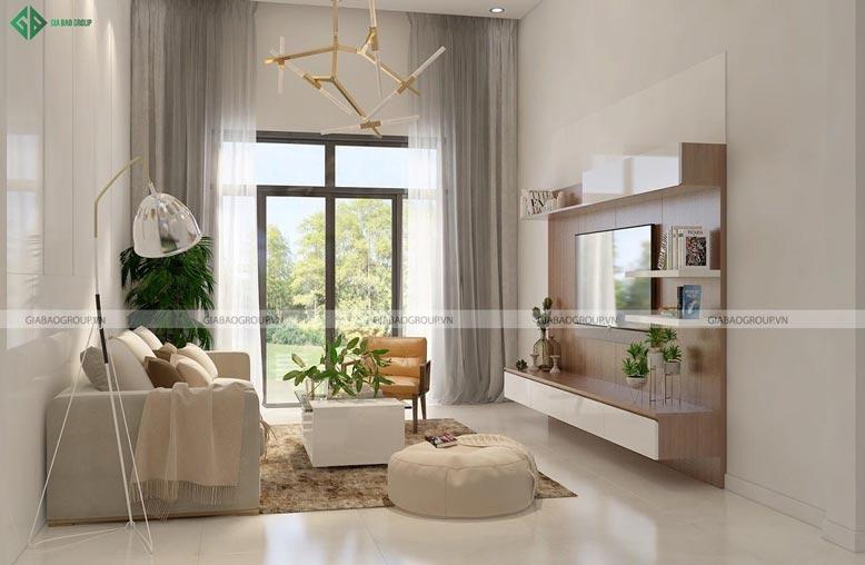 Nội thất phòng khách hiện đại toát lên sự sang trọng và tinh tế