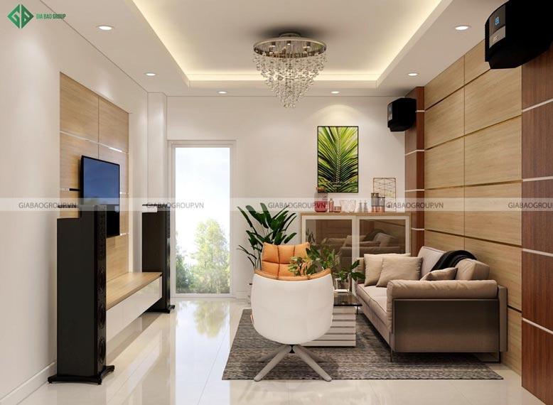 Mẫu nội thất phòng khách hiện đại đẹp tinh tế tại Gia Bảo Group
