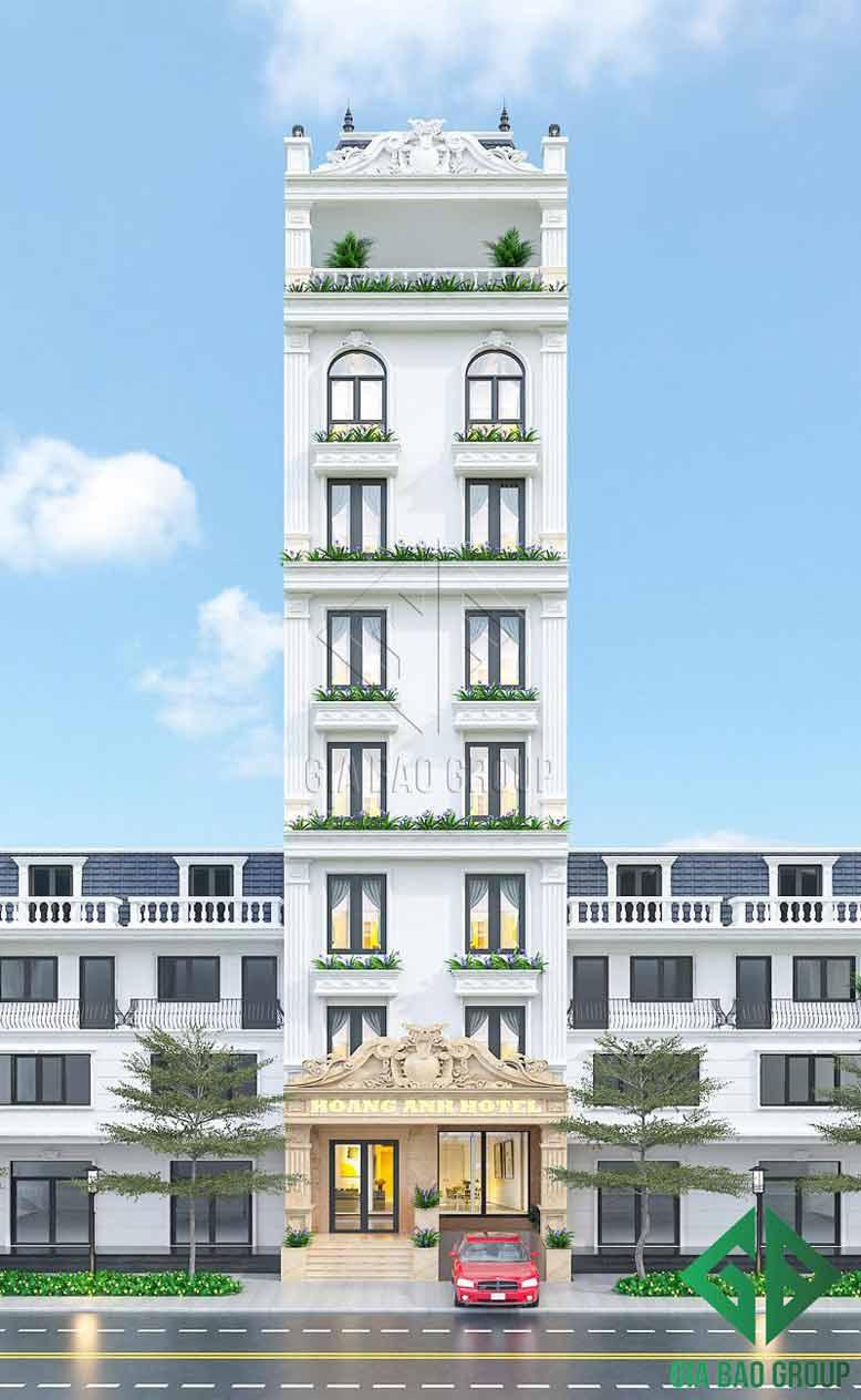 Thiết kế cao ốc cho khách sạn