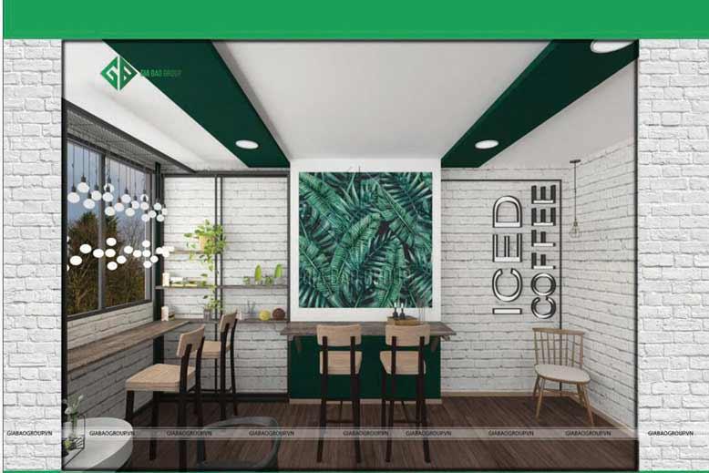 Thiết kế nội thất quán cafe ICED Coffee