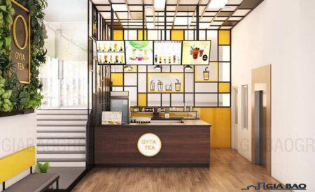 Những gợi ý thiết kế nội thất quán trà sữa đẹp thu hút khách hàng