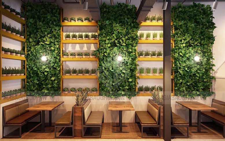 Thiết kế màu sắc quán trà sữa hài hòa để tăng sự thu hút đối với khách hàng