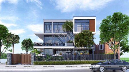 Thiết kế thi công nhà ở kết hợp quán cafe đẹp hút mắt tại TP Nha Trang