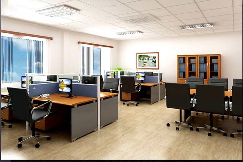 Thiết kế văn phòng kết hợp những điểm sáng màu