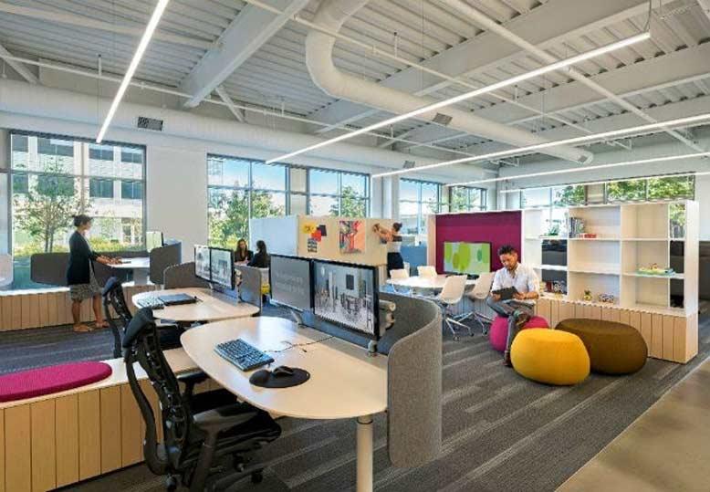 Đưa không gian mở vào trong thiết kế văn phòng