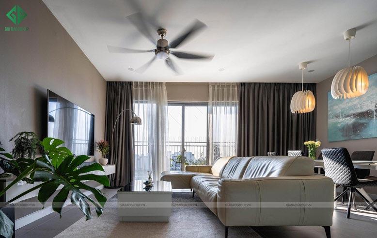 Trang trí nội thất phòng khách cần đảm bảo khoa học và gọn gàng