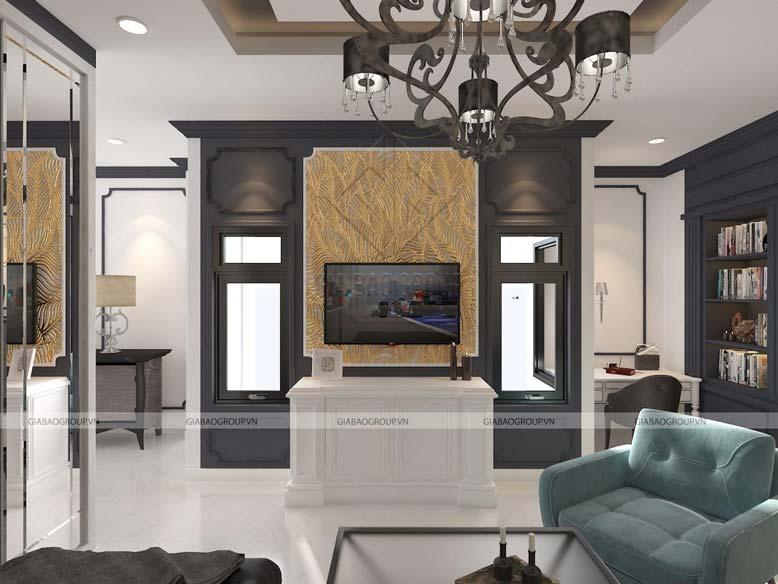 Trang trí nội thất phòng khách với đầy đủ tiện nghi