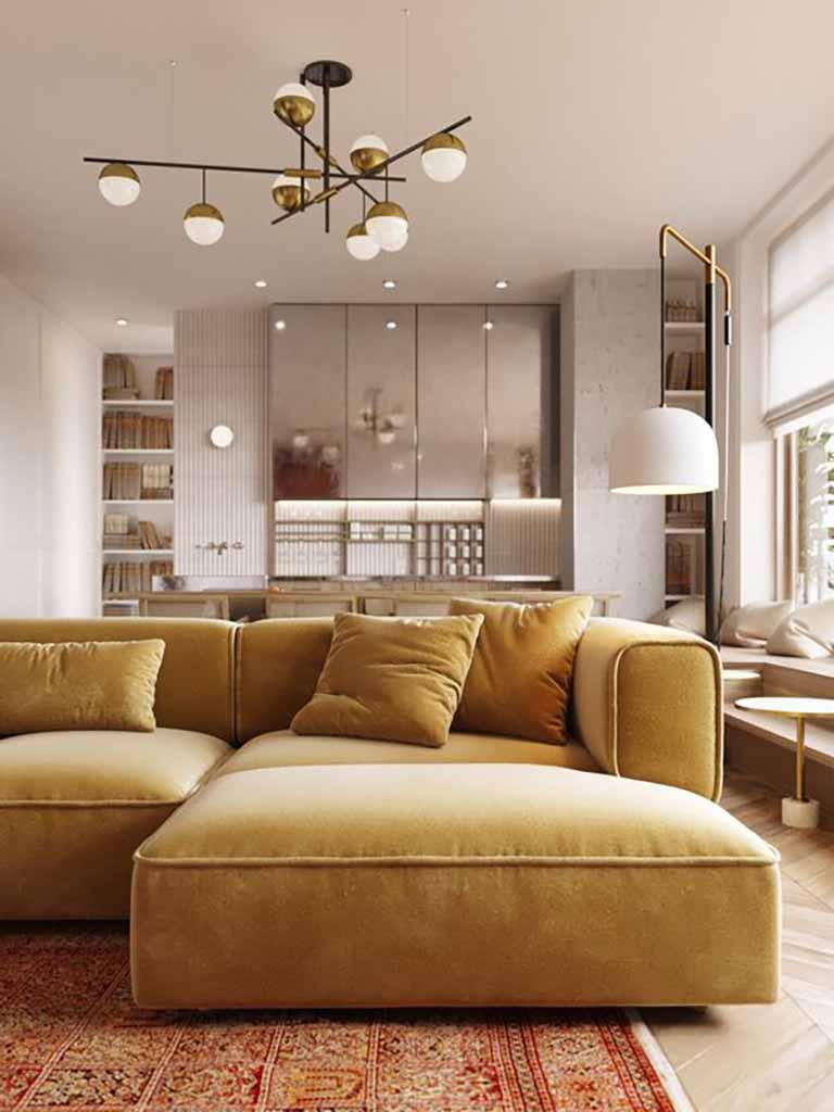 Trang trí nội thất phòng khách diện tích lớn