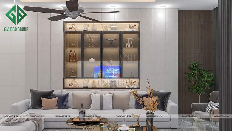 Trang trí nội thất phòng khách biệt thự hiện đại
