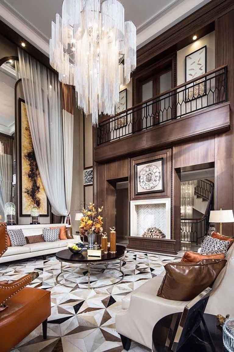 Phòng khách phong cách cổ điển