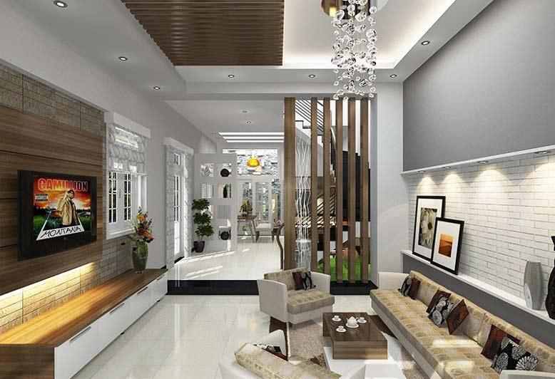 Đèn chiếu sáng được đặc biệt lưu ý khi trang trí nội thất phòng khách