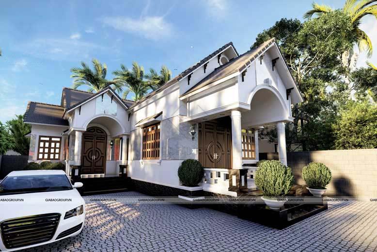 Ngắm nghía mẫu nhà mái Thái 1 tầng sang trọng, kiến trúc mới lạ