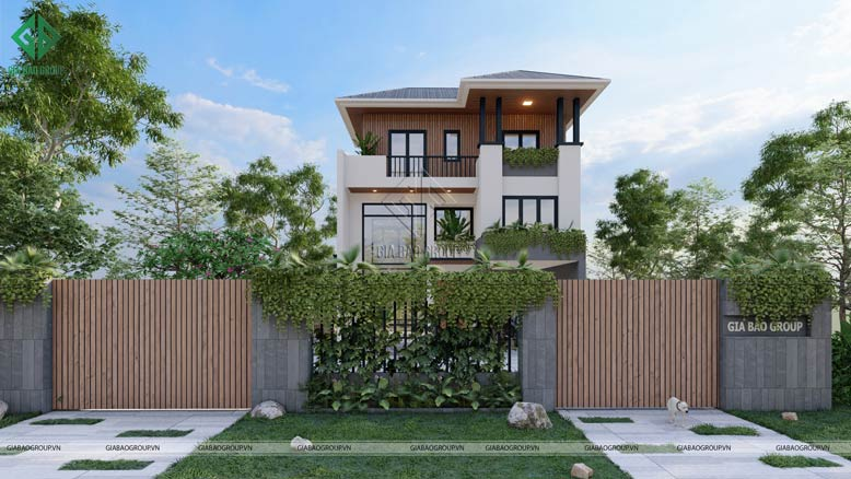 Kiến trúc hiện đại, giản dị của mẫu biệt thự 3 tầng hiện đại