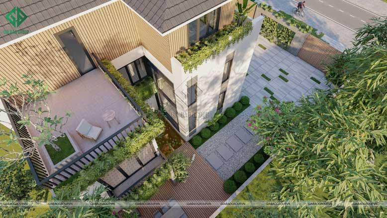 Thiết kế mở và chan hòa cùng thiên nhiên của biệt thự 3 tầng hiện đại