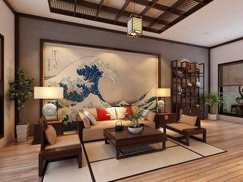 Các phong cách thiết kế nội thất đang thịnh hành - nội thất Nhật Bản.