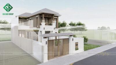 Mê mẩn với mẫu nhà phố 2 tầng đẹp sang trọng, tinh tế tại Bình Dương