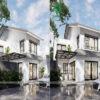 """""""Bỏ túi"""" mẫu thiết kế nhà 2 tầng hiện đại mái dốc, kiến trúc mới lạ"""