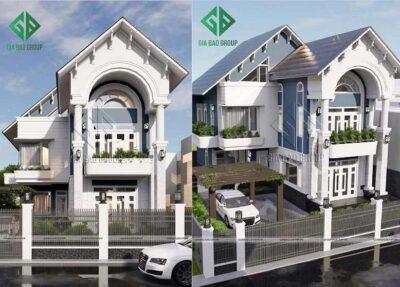 Kiến trúc nhà mái Thái 2 tầng đẹp, hiện đại, sang trọng tại Vũng Tàu