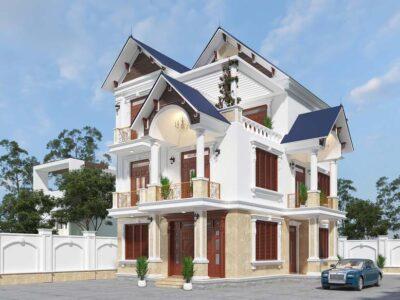 Thiết kế nhà biệt thự mái Thái đẹp, kiểu dáng thanh thoát cho gia chủ sành điệu