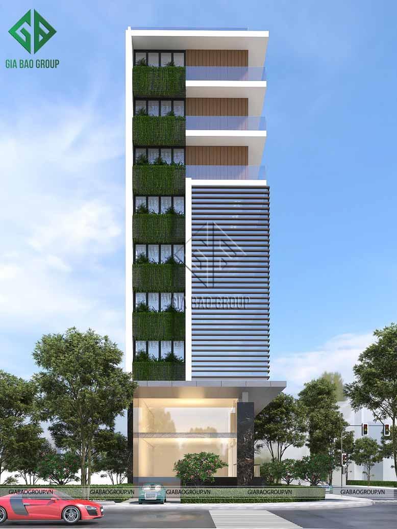 Hình ảnh mặt tiền của mẫu thiết kế nhà đẹp Đà Nẵng từ Gia Bảo Group