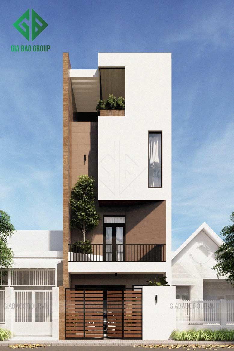 Thiết kế nhà phố hiện đại, lệch tầng