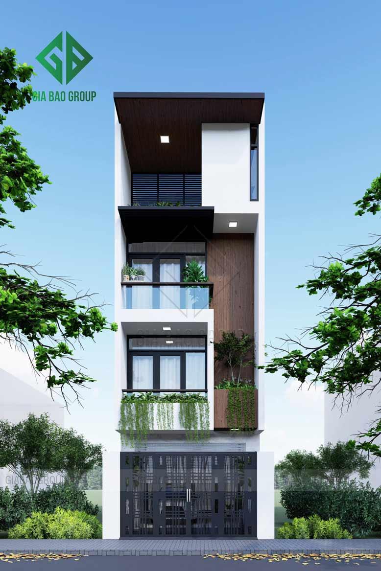 Thiết kế nhà phố dạng ống lệch tầng